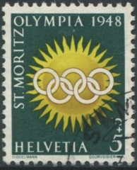'5 Rp. Olympiade St. Moritz 1948 - 2. Auflage '