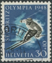 '30 Rp. Olympiade St. Moritz 1948 - 2. Auflage '