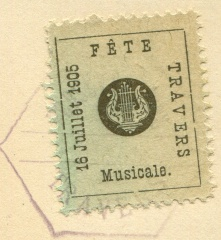 Fete Musicale TRAVERS 1905
